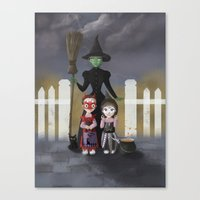 coven Canvas Prints featuring Coven by Rustic robin designs