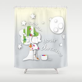 Color your dreams Shower Curtain