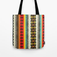 ethnic Tote Bags featuring Ethnic by Katya Zorin