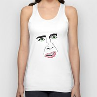 nicolas cage Tank Tops featuring Nicolas Cage  's Face by Froleyboy