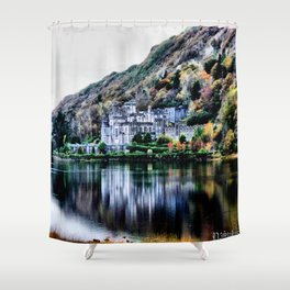 A Castle in Reflection Shower Curtain