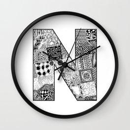 Cutout Letter N Wall Clock