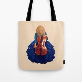 Cellist in Blue II Tote Bag