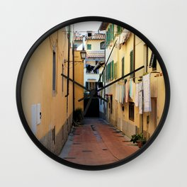 Laundry Day in Figline Valdarno Wall Clock