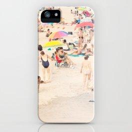 Beach Crowd iPhone Case
