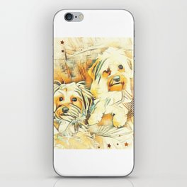 Penny and Copper Yorkie Mixes iPhone Skin