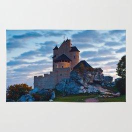 Medieval castle in Bobolice, Poland Rug