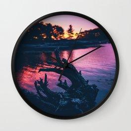 Purp Sunrise Wall Clock
