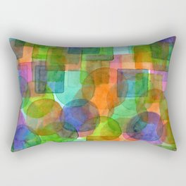 Befriended Squares and Bubbles Rectangular Pillow