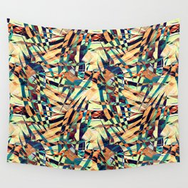 Wild Geometric Party Abstract Geo Pattern Wall Tapestry