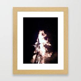 Big fire texture closeup Framed Art Print