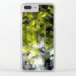 Green mosaic tile abstract Clear iPhone Case