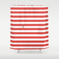 waldo Shower Curtains featuring Dude.. I'm right here by Adel