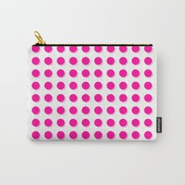 Hot pink dots with shadows Carry-All Pouch