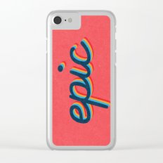 Epic - pink version Clear iPhone Case