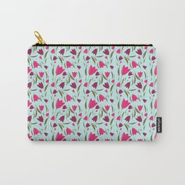 FLORAL TULIP - AQUA Carry-All Pouch