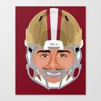 49ers Canvas Prints featuring Faces-San Francisco by IllSports