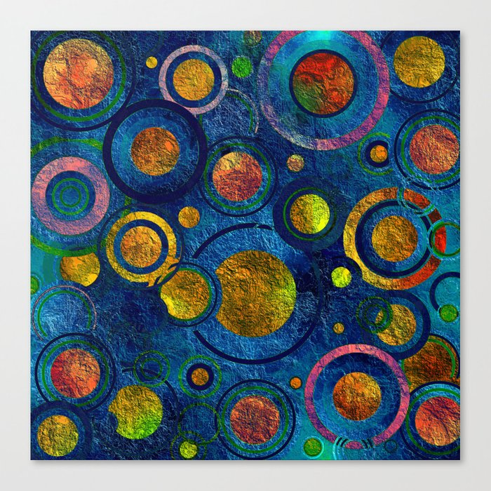 Full of Golden Dots - color variation Canvas Print