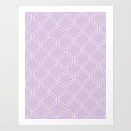 Double Helix - Light Purples #367 Art Print