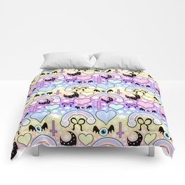 Pastel Goth Collage Comforters