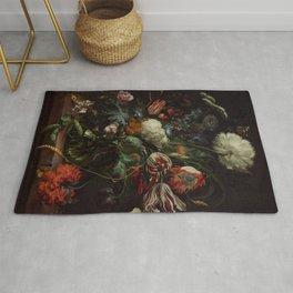 """Jan Davidsz. de Heem """"Vase of Flowers"""" Rug"""