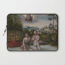 "Lucas Cranach the Elder ""The Baptism of Christ"" Laptop Sleeve"