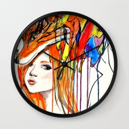 The Lady and the Fox Wall Clock