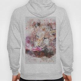 Lion Wild Animal watercolor Hoody