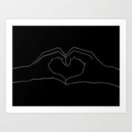 cœur Art Print