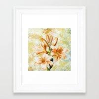 vintage floral Framed Art Prints featuring Vintage Floral by Colorful Art