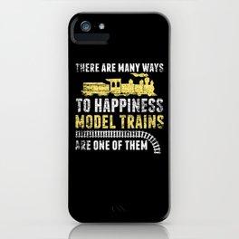 Funny Model Train iPhone Case