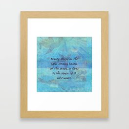 Ocean waves sea quote with sea life Framed Art Print