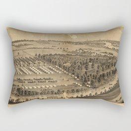 Camp Foster, Cuyahoga Falls, Ohio (1880) Rectangular Pillow