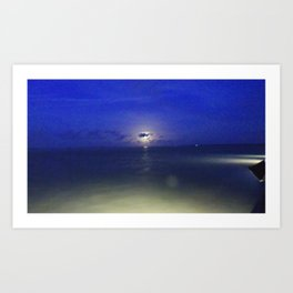 Moon Dancing on Water Art Print