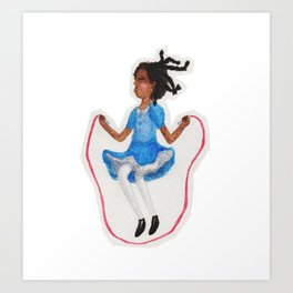 Joyful Jumper Art Print
