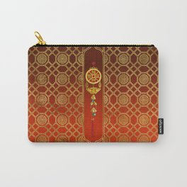 Chinese Good Luck Symbol Tasssel - Feng shui Carry-All Pouch