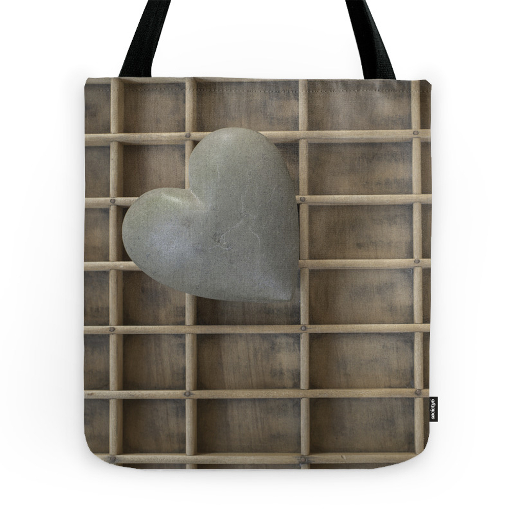 My Heart On A Grid. Tote Purse by vinyetetc (TBG7589153) photo