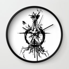 Black Spring Wall Clock