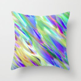 Colorful digital art splashing G401 Throw Pillow