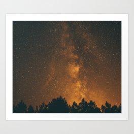 The Milky Way (Forest Landscape Photography, Starry Night Sky Photo) Art Print