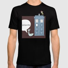 Don't Let the Pigeon Drive the Tardis 2X-LARGE Black Mens Fitted Tee