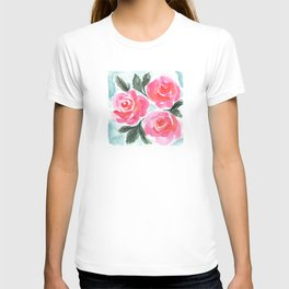 Farmhouse and Shabby Chic Rose Bouquet Chintz Rose Florals American Country English T-shirt