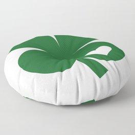 Clover Heart Irish Green St. Patrick's Day Shamrock Floor Pillow
