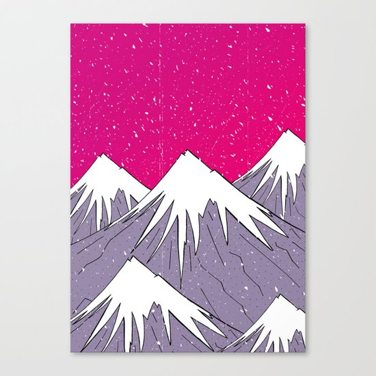 The mountains and the Snow Canvas Print