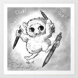 The Pen-Clicking Pet Peeve Art Print