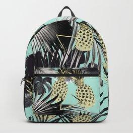 Tropical Pineapple Jungle Geo #5 #tropical #summer #decor #art #society6 Backpack
