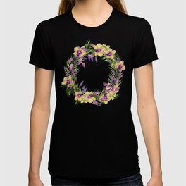Wreath, Orchid, Clipart, watercolor, handpainted, floral, flower, design, stylish T-shirt
