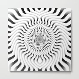 3D 0XX Metal Print