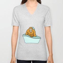 Bathtub monkey Unisex V-Neck