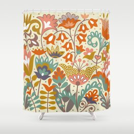 Forest flowers Shower Curtain